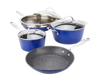 8 Piece Cookware Blue
