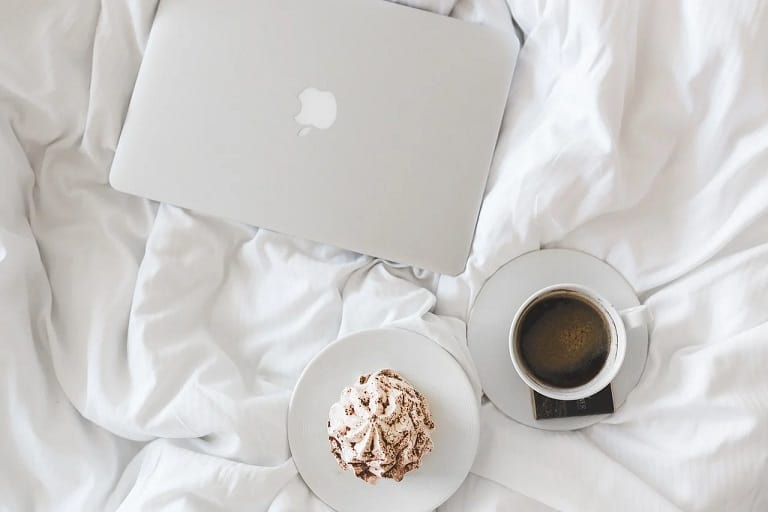 Bed Sheet With Coffee