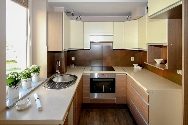 Kitchen With Wood Work