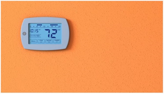 Thermostat With Humidity Control Orange